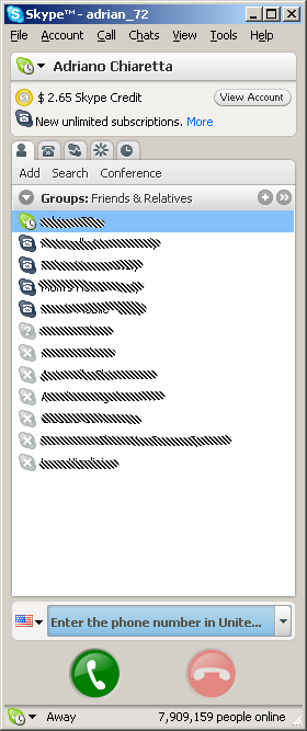 How can I take off this huge blue thing in Skype 4?