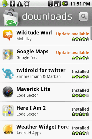 My favorite android apps as of today