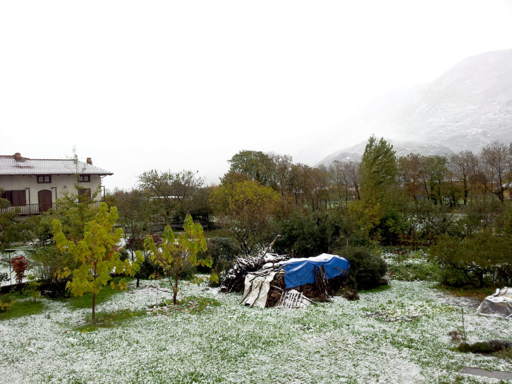Snow at October's end…